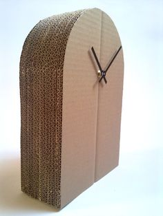 """Cardboard clock """"Model 2""""  / zegar z tektury, clock, diy, zrob to sam, home, dom, wnętrz, design"""