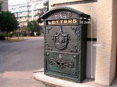 Victorian Style Wall Mounted Cast Iron Mailboxes Weight 12lb (Verde Green Aristocracy) amoylimai http://www.amazon.com/dp/B00FRLRQN6/ref=cm_sw_r_pi_dp_YdVewb0E7RGGS