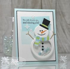 All Shook Up Shaker Snowman using products from Taylored Expressions.