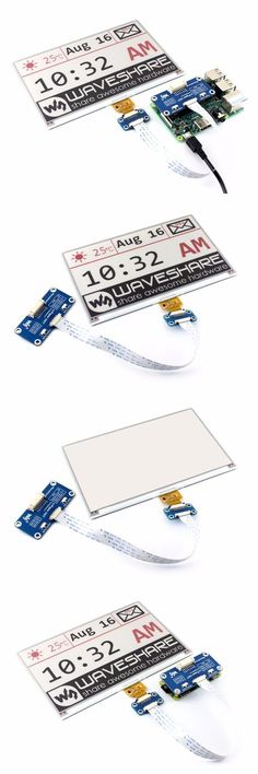 E-Ink display HAT for Raspberry Pi Red Black White Three-color Display SPI No Backlight Ultra low consumption Hobby Electronics, Electronics Projects, Projetos Raspberry Pi, Raspberry Projects, E Ink Display, Rasberry Pi, Diy Tech, Electrical Projects, Arduino Projects