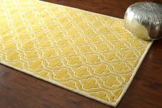 $5 Off when you share! Savanna Lattice VE05 Sunflower Rug | Contemporary Rugs #RugsUSA