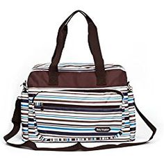 Diaper Bag Tote Large Shoulder Bags for Mom, Blue Stripe