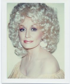 Dolly Parton polaroid portrait by Andy Warhol. Dolly Parton, Divas, Beautiful People, Beautiful Women, It's All Happening, Hair Romance, Star Wars, Hello Dolly, Celebs