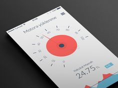 engine load gauge #interface #mobile #iOS7 #flatdesign #dribbble #behance #iPhone #inspiration #mobile