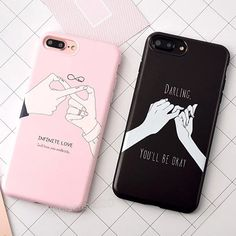 Fashion Love Heart Gesture Couples Letter Soft Phone Case For Iphone 6 6S 7 Plus