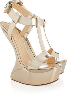 Platform metallic sandals gold