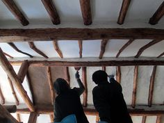 Building A House, Build House, Exposed Beams, Concrete Floors, My House, Traditional, Architecture, Interior, Room