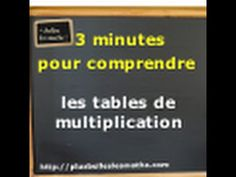 Apprendre facilement les tables de multiplication - YouTube