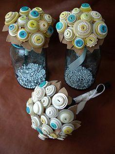 bride and bridesmaids' bouquets by lilfishstudios, via Flickr