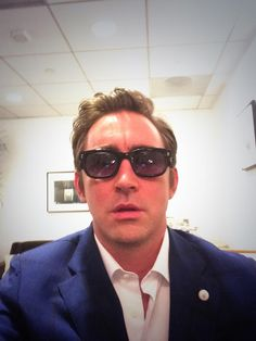 Lee Pace selfie.  On his way to Hollywood Walk of Fame, December 8, 2014.