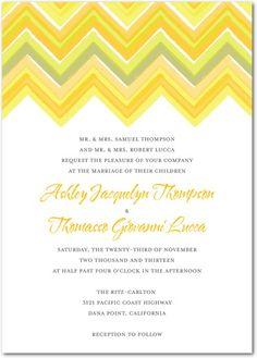 Chevron Charm | Wedding Paper Divas