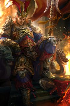 Dynasty Warrior Fanart - Lu Bu by derrickSong on deviantART