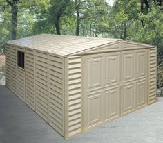 Duramax 10x15.5 Vinyl Garage - w/ Foundation #Storageshedsoutlet