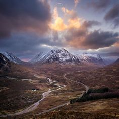Fireworks in the clouds above Glencoe, Highland, Scotland