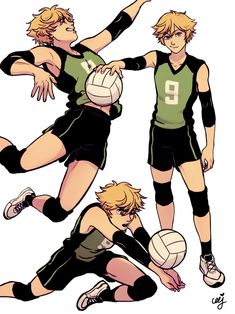 "ceejles: "" Volleyball AU!! @meru90 and I suffered about the difference between Oikawa and Adrien hair (cuz it's so the same!!) it led us into making…"