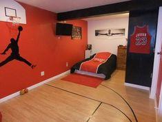 Basketball room decor sporty bedroom ideas with basketball theme basketball themed bedroom ideas . Bedroom Themes, Bedroom Decor, Bedroom Ideas, Bedroom Furniture, Bedroom Designs, Kids Furniture, Budget Bedroom, Bedroom Styles, Bedroom Wall