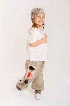 Linen Pants for Girls - €27.50 : Luxury linens for kids, Custom clothing & handmade toys for children