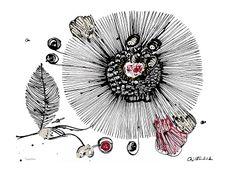 PASSION FLOWER Bläck och akryl på papper Cajsa Fredlund, cajfre@gmail.com Plywood Cabinets, Passion Flower, Hand Fan, Home Appliances, Crafts, House Appliances, Manualidades, Appliances, Handmade Crafts