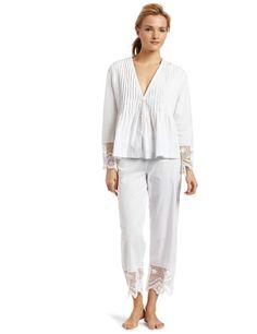 Casual Moments Women`s Cotton Pajama - Lace Trim $49.14