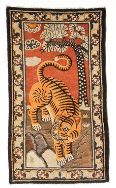 Mongolian Tiger rug, early 20th