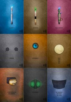Doctor Who Minimalist Posters