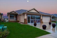 Exterior WestView Builders | Highwood Lake Villas | Show home Lake Villa, Mountain View, Villas, Bungalow, Golf Courses, Exterior, Luxury, Outdoor Decor, Home Decor
