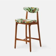 366 Barstool S - Deco collection Wood Colors, Colours, Retro Furniture, Outdoor Fabric, Upholstered Chairs, Wells, Bar Stools, Solid Wood, Indoor