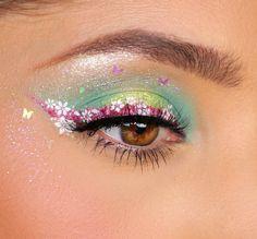 Fairy Eye Makeup, Elf Makeup, Prom Makeup, Makeup Inspo, Makeup Inspiration, Makeup Tips, Crazy Makeup, Pretty Makeup, Tinkerbell Makeup