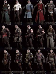 Witcher 3 Armors