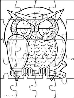Printable jigsaw puzzles to cut out for kids Halloween 17 Coloring Pages