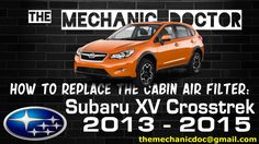 This video will show you step by step instructions on how to replace the cabin air filter on a Subaru XV Crosstrek 2013 - 2015 . Oil Light, Air Filter, Repair Manuals, Step By Step Instructions, Subaru, Filters, Cabin, Life, Youtube