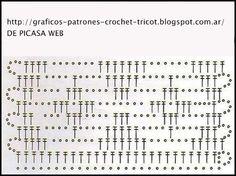 GRAFICOS=PATRONES=CROCHET =TRICOT = DOS AGUJAS: MAS PUNTOS CROCHET CON SU GRAFICOS = MAS PUNTOS A GANCHILLO CON SU PATRON