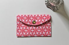 Holiday gift card holder - geometric snowflakes