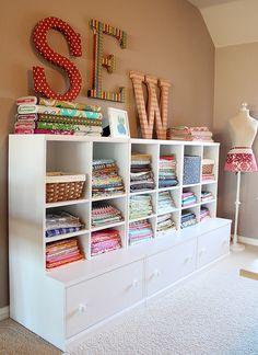 My sewing room, sewing room design, sewing room storage, craft room d Sewing Room Storage, Sewing Room Organization, My Sewing Room, Craft Room Storage, Fabric Storage, Sewing Rooms, Storage Ideas, Craft Rooms, Organization Ideas