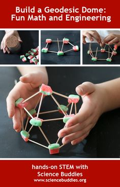 """A Geodesic Dome for the Season"": Make a geodesic dome and explore the #math and #science behind the structure and its strength [Source: Science Buddies, http://www.sciencebuddies.org/blog/2015/12/a-geodesic-dome-for-the-season.php?from=Pinterest] #scienceproject #STEM #familyscience #math"