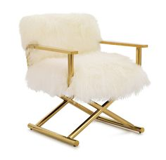 DIRECTOIRE CHAIR TIBETAN FUR <BR>[available online and in stores]