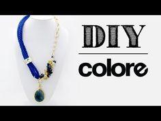 DIY: Collar Hilo de Seda y Cadena - Colore Accesorios - YouTube