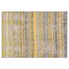 Check out this item at One Kings Lane! Durango Rug, Yellow/Gray