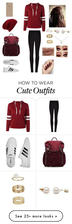 """Cute red/maroon outfit"" by stuff4m on Polyvore featuring Winser London, M Z Wallace, Agent 18, Halogen, adidas, Miss Selfridge and Cartier"