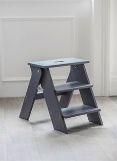 I've just found Step Stool In Charcoal Spruce. Step up your style with our uniquely designed Step Stool. The traditional stepladder design makes for a contemporary household companion. Kitchen Step Stool, Step Stools, Kitchen Chairs, Laundry Shelves, Diy Stool, Wooden Steps, Easy Woodworking Projects, Furniture, Home Decor