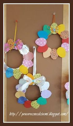 Easy Easter Crafts, Easter Art, Spring Crafts, Holiday Crafts, Diy For Kids, Crafts For Kids, Easter Activities, Easter Wreaths, Diy Wreath