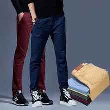 effb4aa4 Primavera y verano de los hombres clásicos elástico pantalones casuales  pantalones de hombre de negocios Slim Fit Jogger Stretch pantalones largos  ...