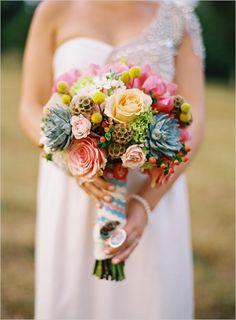 shades of summer bouquet