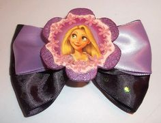 Tangled Rapunzel Purple and Lavender Hair Bow by JENSTARDESIGNS, $5.50