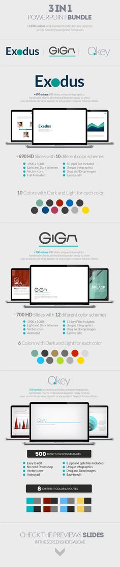 PowerPoint Mix   Bundle 3 in 1 Template #powerpoint #powerpointtemplate Download: http://graphicriver.net/item/power-mix-bundle-3-in-1/8973298?ref=ksioks