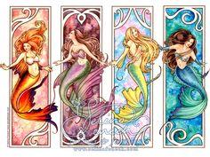 Beautiful, Mermaids, Colorful, Under the Sea