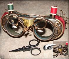 Industrial sewing goggles by Dr. Grymm (Also 12 other pairs of goggles at link.)