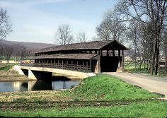 Claycomb Covered Bridge ~ Bedford County ~ Pennsylvania ~ Built in 1880.