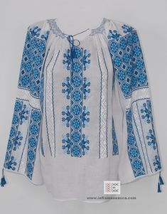 100% #handmade #Embroidery Romanian blouses - worldwide shipping #ieromaneasca #RomanianBlouse #wyshyvanka #Bohemian #fashion
