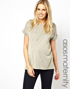 Image 1 of ASOS Maternity Exclusive T Shirt In Metallic
